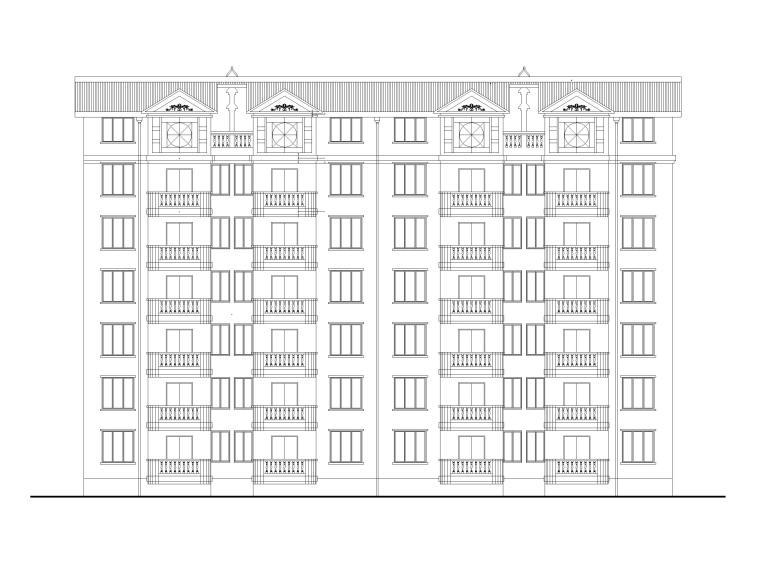 小康型单元式多层住宅建筑施工图