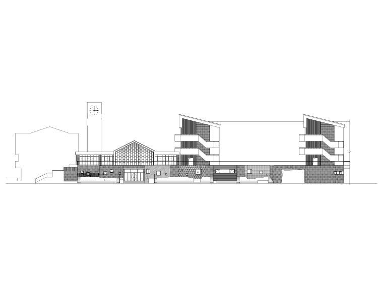 [上海]四层装配式框架结构小学建筑施工图