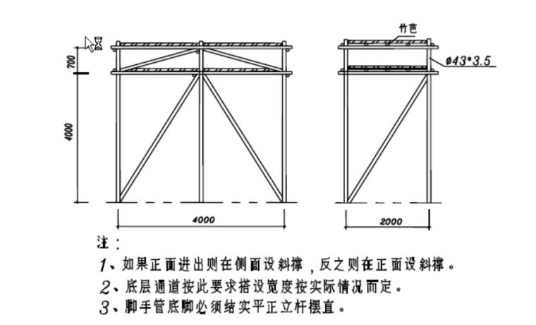 [广东]高层住宅楼工程文明施工方案(2016)-06 防护栅搭设图