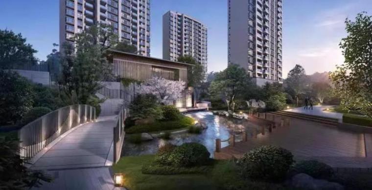 [广东]高层住宅楼工程文明施工方案(2016)-01 工程效果图