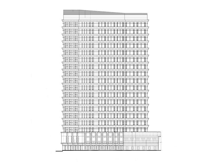 北京商务型公寓_商业建筑建筑施工图(PDF)