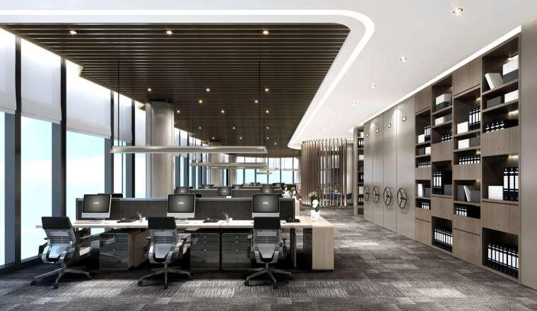 西安现代办公楼项目_方案+效果图丨66P