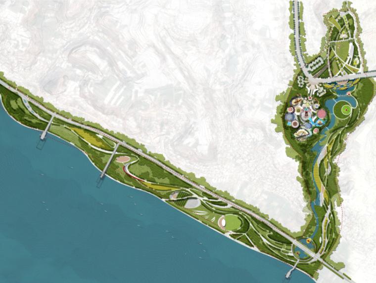 湿地公园景观总平面图PSD