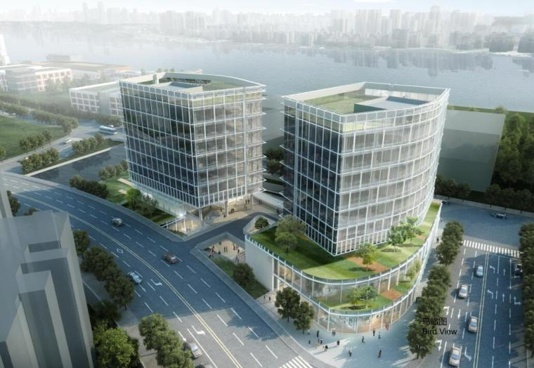 [上海]知名企业现代商业办公综合体建筑方案