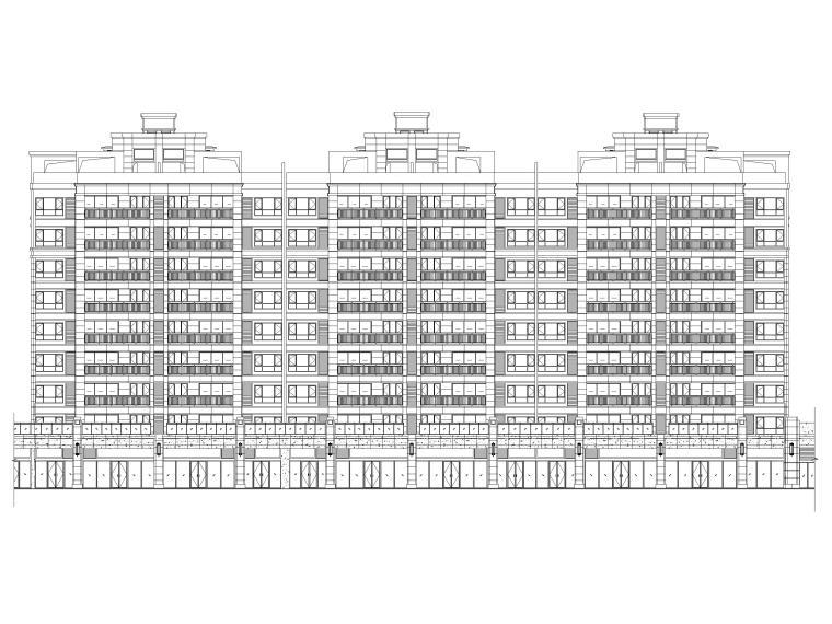 [广东]多高层住宅及商业配套设施建筑施工图