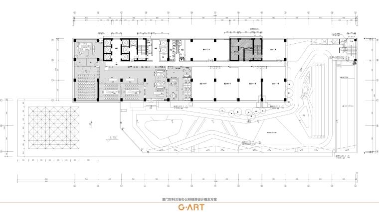 厦门三安办公样板房_设计方案+效果图|42P