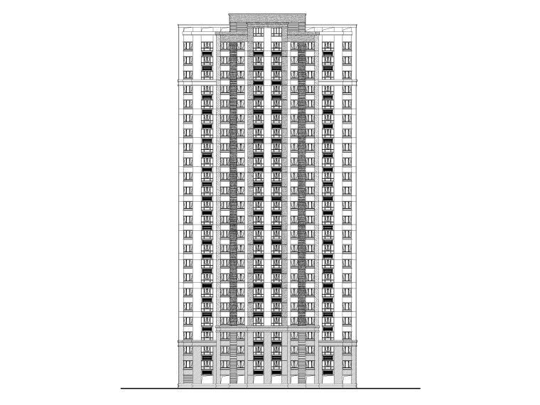 合肥高层住宅及商业配套设施建筑施工图