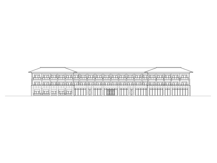 三层养老院建筑方案图(CAD)