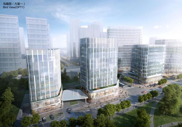 [上海]知名企业商业办公国际投标建筑方案