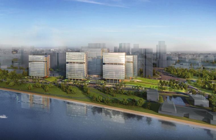 [上海]现代风格沿岸滨水商业办公方案设计