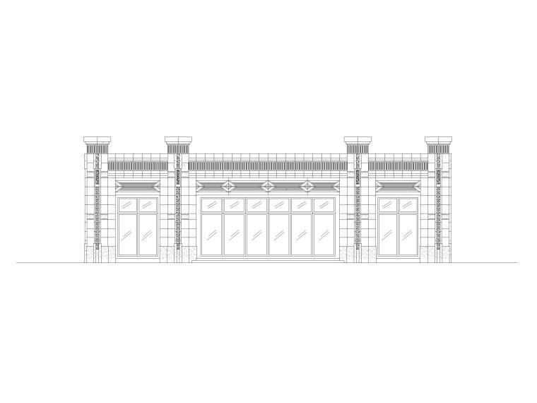 园区入口大门建筑施工图(CAD)