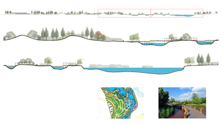 湿地公园景观平立面图纸PSD