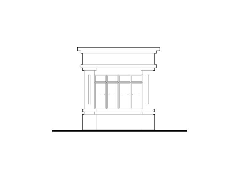[安徽]轮胎厂拆迁复建小区门卫建筑施工图