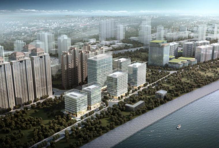 [上海]沿岸现代风格商业办公建筑方案设计