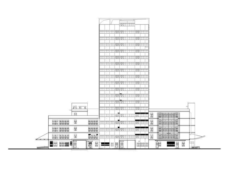 [上海]高层医院门急诊医技综合楼建筑施工图
