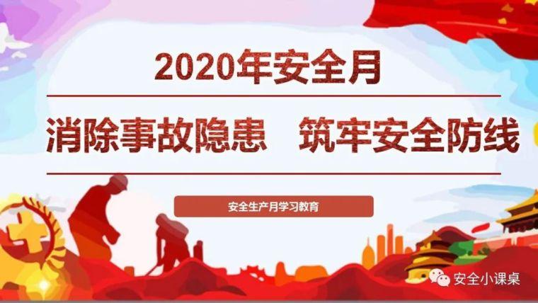 """2020年""""安全生产月""""主题公布"""