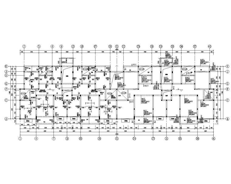 8层住宅楼钢筋混凝土结构施工图(CAD)