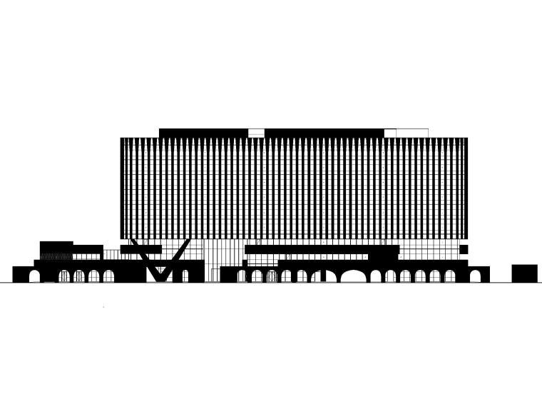 北京高层商业金融办公综合体建筑施工图2020