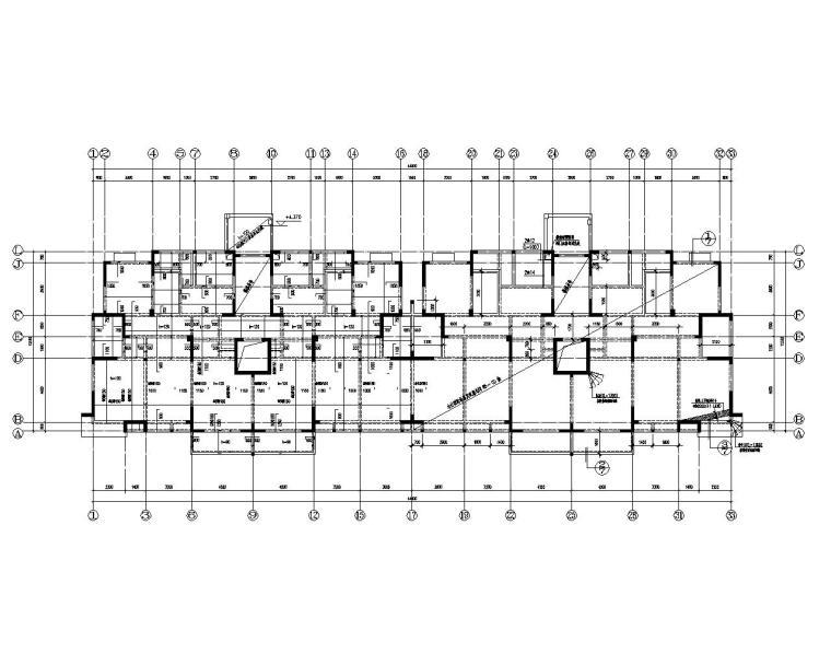 11层高层住宅楼剪力墙结构施工图(CAD)