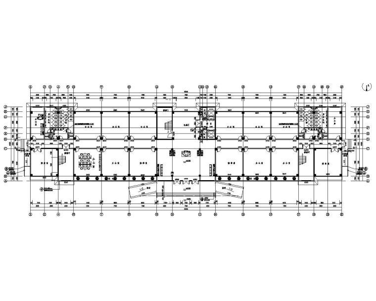 某10层办公楼框架构施工图(CAD含建筑)