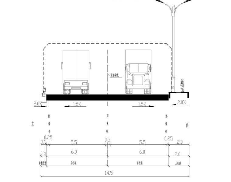 标准横断面图