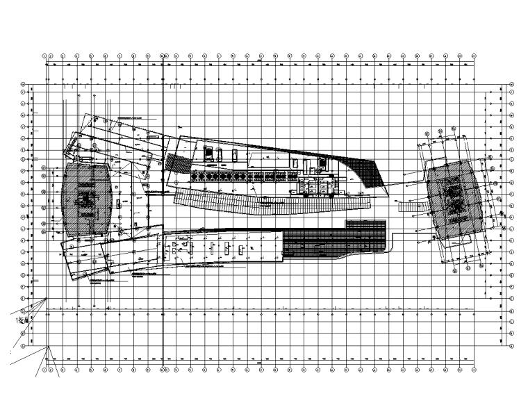 屋顶组合防雷平面图