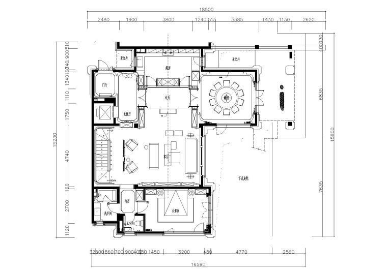 [北京]现代风格四层家居别墅施工图_效果图