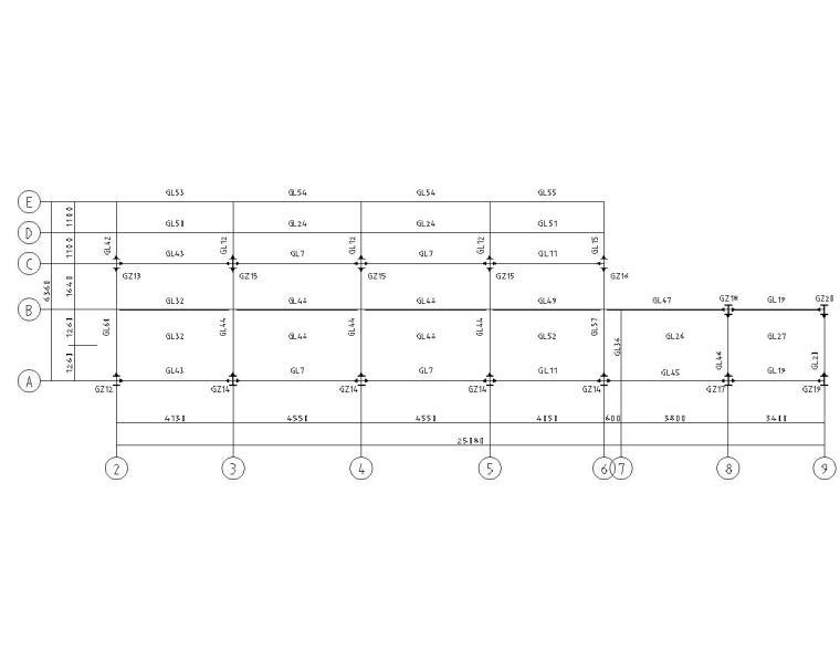 五层宾馆新加钢框架结构施工图(CAD)