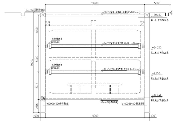 [南京]双跨岛式地铁站基坑工程施工方案
