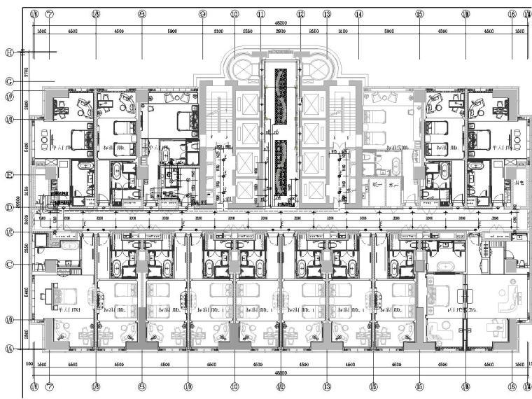 [陕西]酒店客房精装修电气施工图(八层)