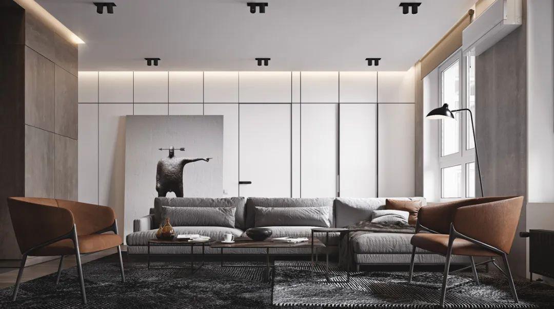 现代一居室,单身公寓的高级格调