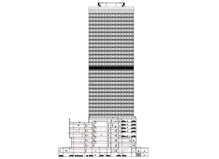 [安徽]现代风办公写字楼建筑施工图设计