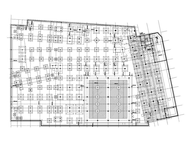 地下室底板配筋平面图