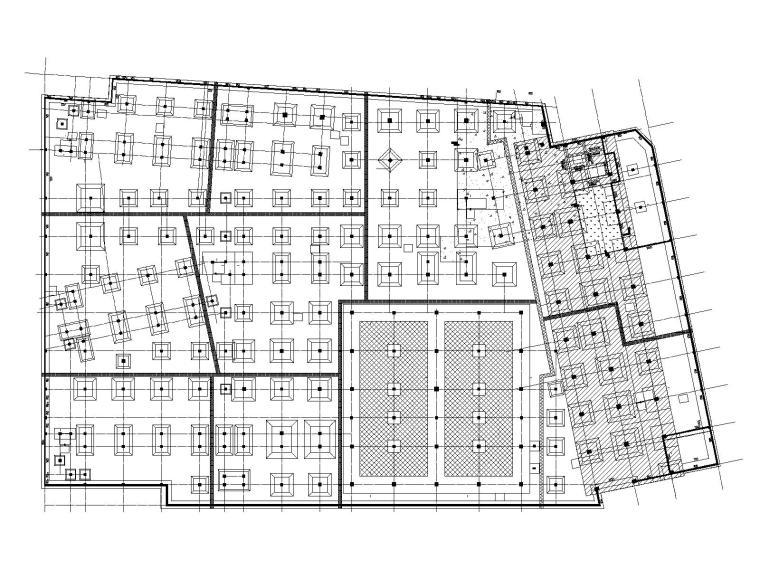 地下室基础布置平面图