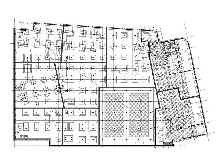 塔吊基础布置平面图