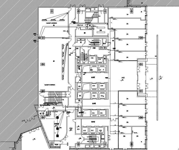 安徽施工图设计资料下载-[安徽]现代风办公写字楼施工图设计电气