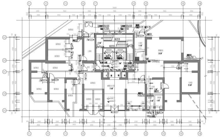 4#地下一层平面图