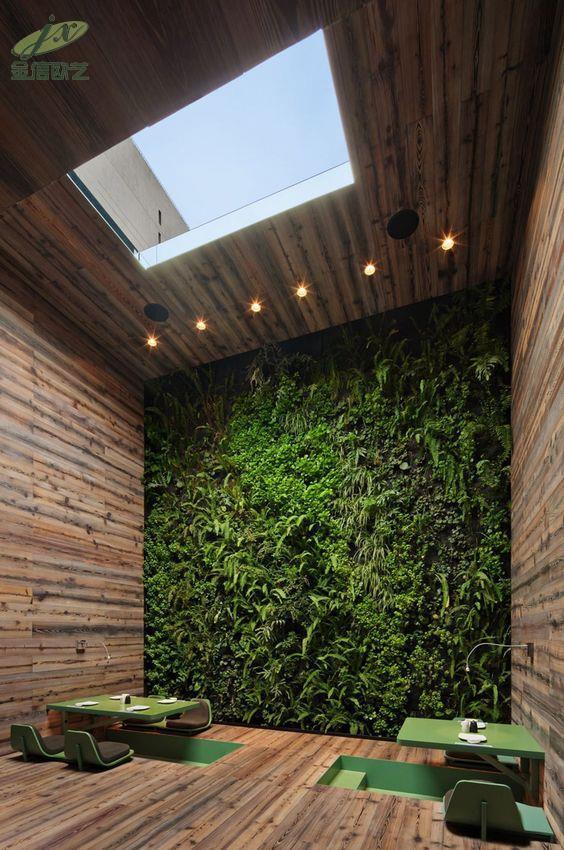 室内植物墙对环境的作用