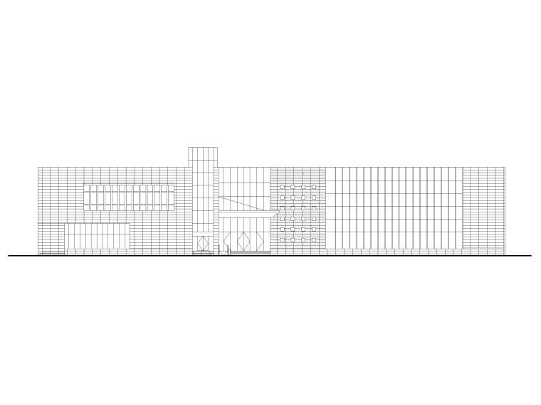 [福建]二层框架结构展示馆建筑施工图