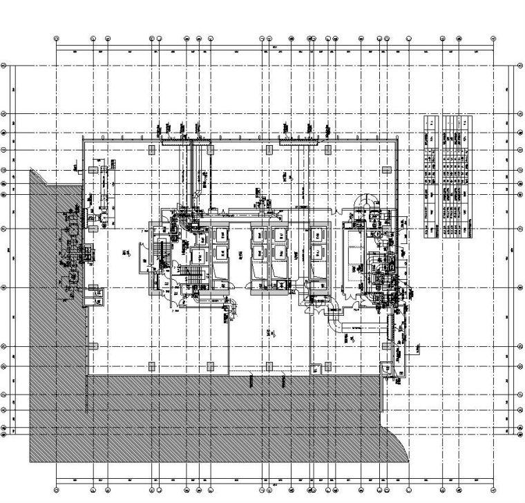 安徽施工图设计资料下载-[安徽]现代风办公写字楼施工图设计暖通