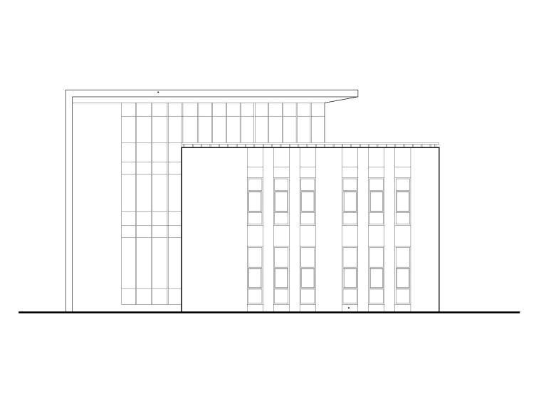 [福建]三层框架研发类标准厂房建筑施工图
