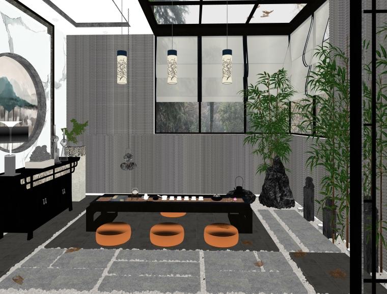 中式日式书房茶室_8