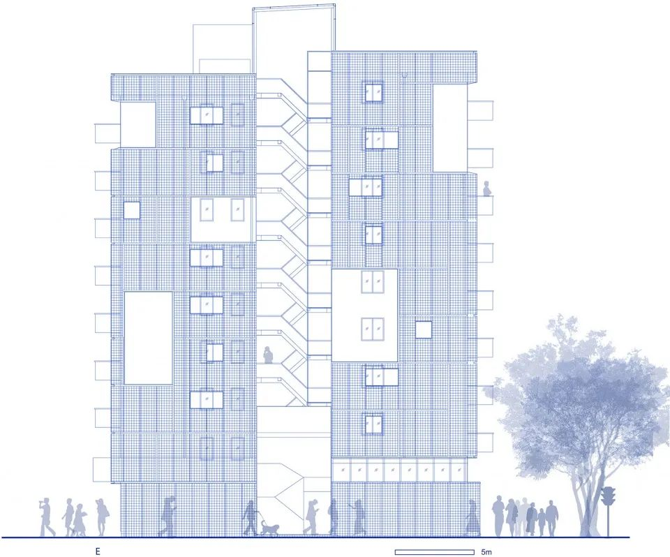 建筑|老旧居民楼改造成时尚公寓_32