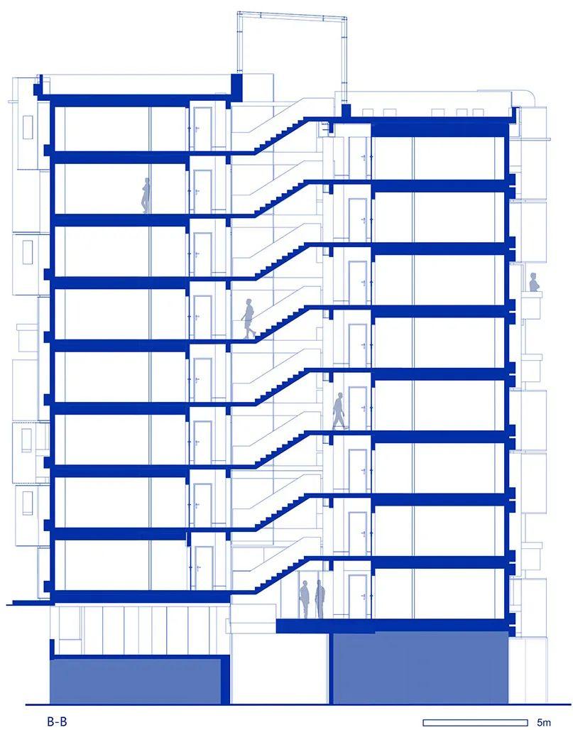 建筑|老旧居民楼改造成时尚公寓_34