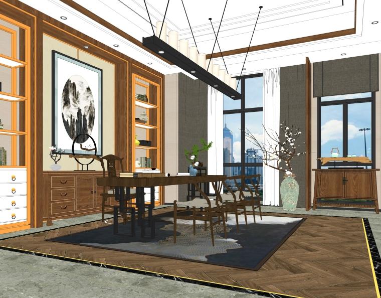 中式日式书房茶室