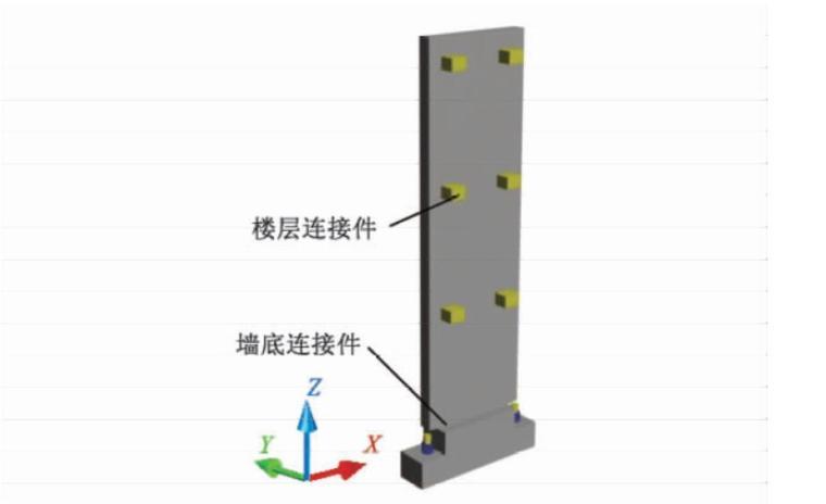 框架-摇摆墙结构体系中连接节点试验研究