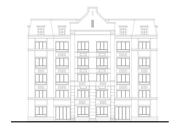 三面宽150㎡叠拼别墅方案图(CAD)