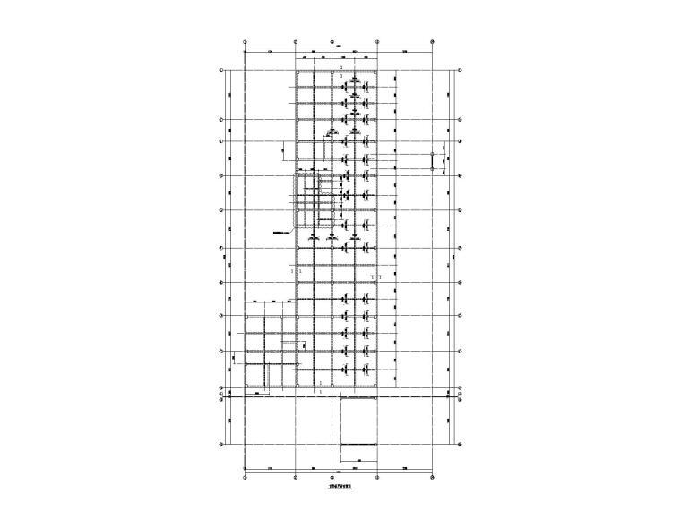 [广东]3层框架结构厂房结构施工图_门刚雨棚