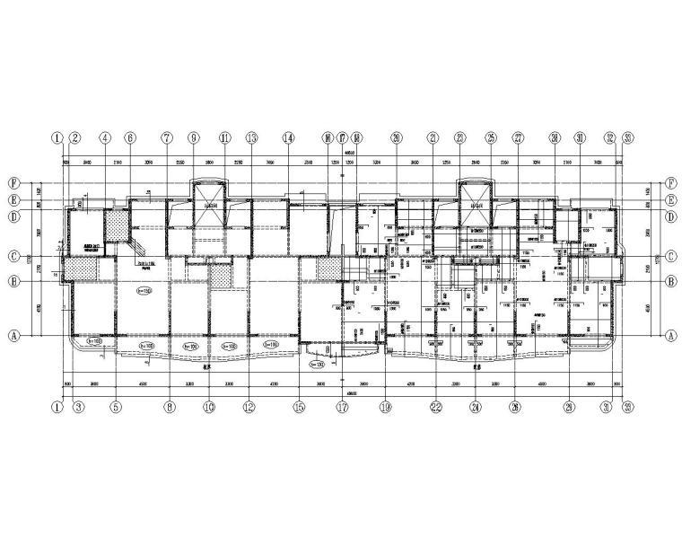 某17层剪力墙结构高层住宅施工图(CAD)