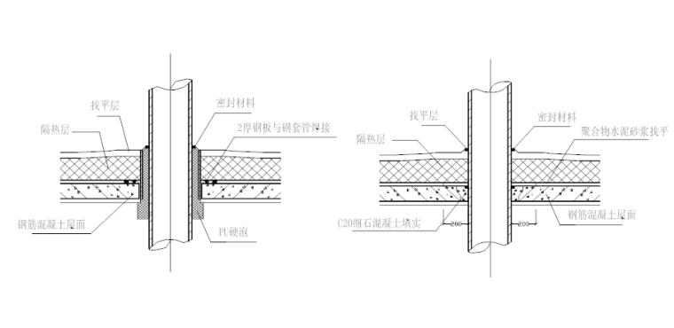 04 伸出屋面管道的防水构造